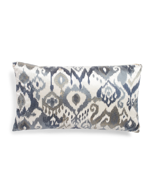 Ikat Velvet Pillow