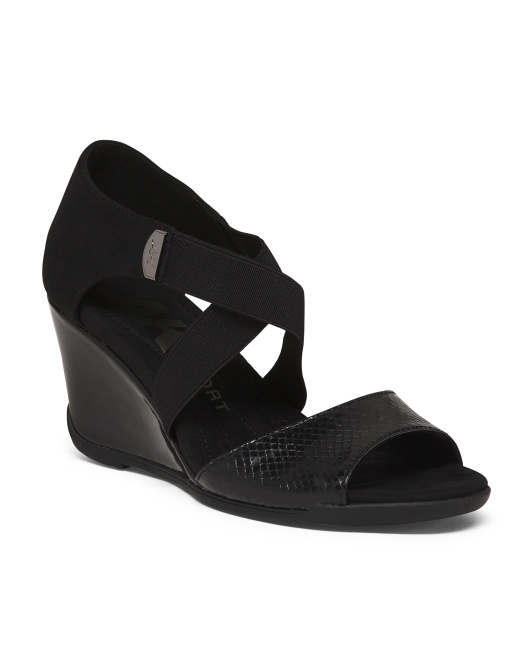 Comfort Stretch Wedge Sandals