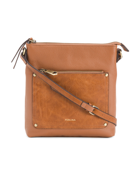Judi Leather Crossbody