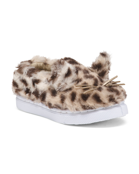 Toddler Girls Faux Fur Kitten Sneakers