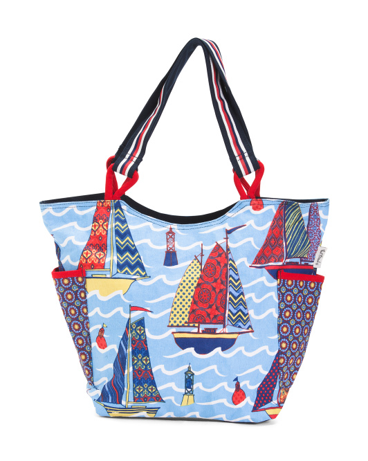 Sailboat Fabric Tote