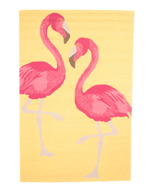 Indoor Outdoor Flamingo Area Rug