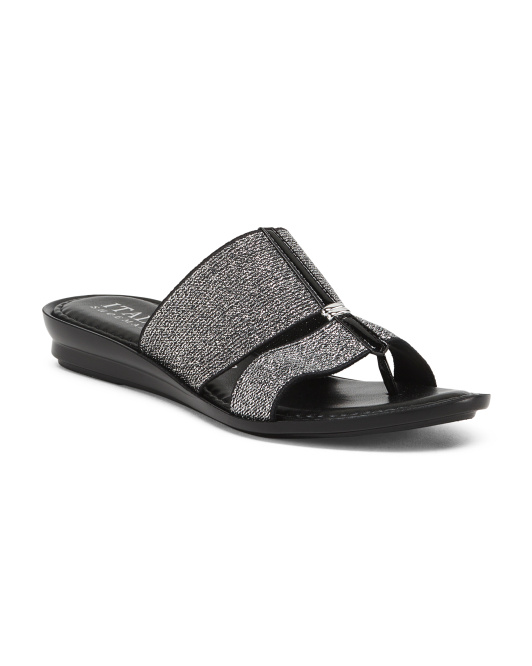 Made In Italy Stretch Slide Sandals