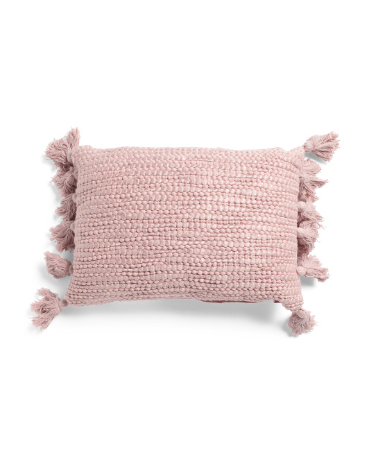 Made In India 14x20 Harper Textured Pillow