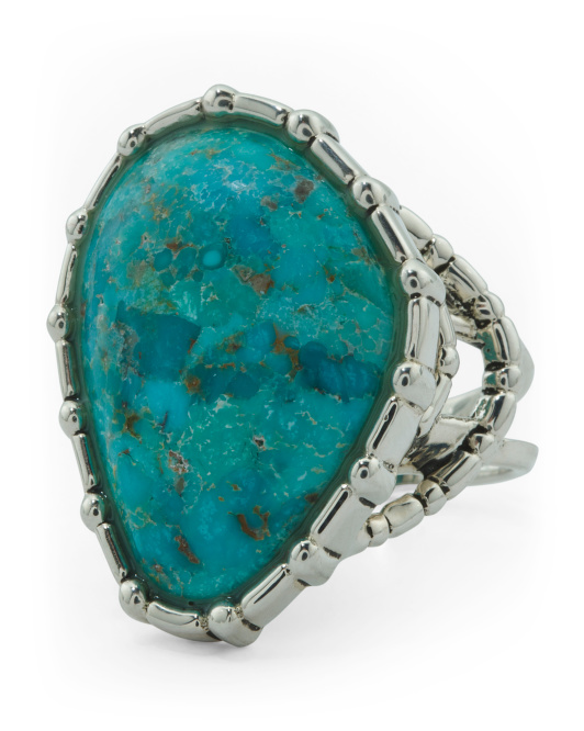 Made In Thailand Sterling Silver Arizona Turquosie Ring