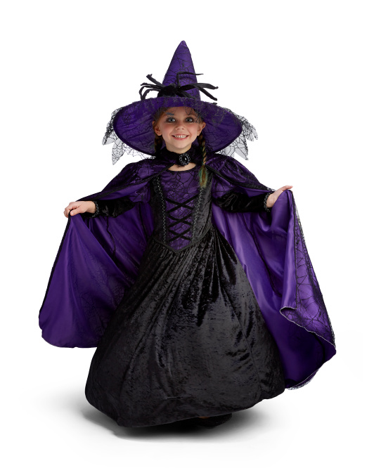 Spider Witch Gown And Cape Costume