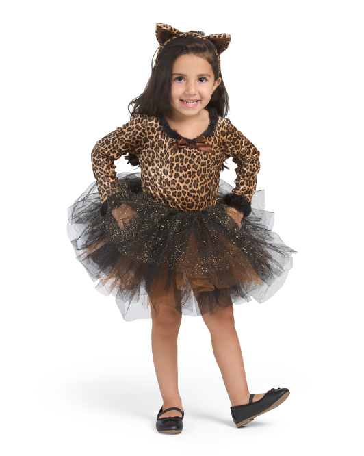 Toddler Kitty Cat Tutu Costume With Headband