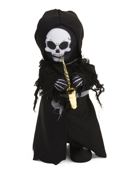 Animated Plush Saxophone Rockin' Reaper