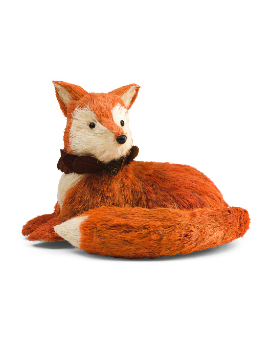 10in Fox With Neckwreath