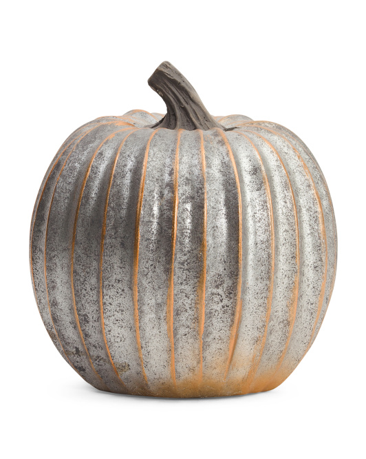 8in Metallic Pumpkin Decor
