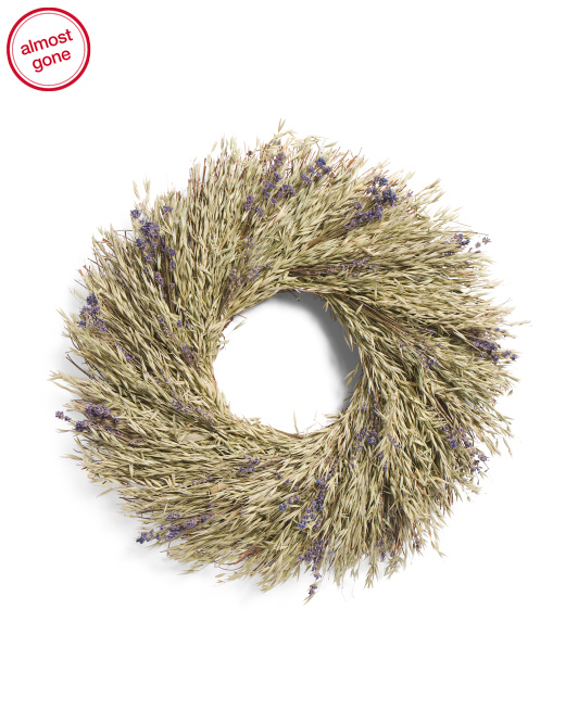 22in Oats And Lavender Wreath