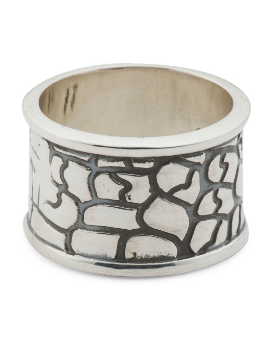 Made In Mexico Sterling Silver Giraffe Band Ring