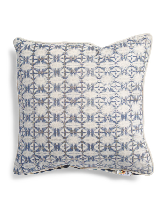 Made In India 20x20 Reversible Metallic Pillow