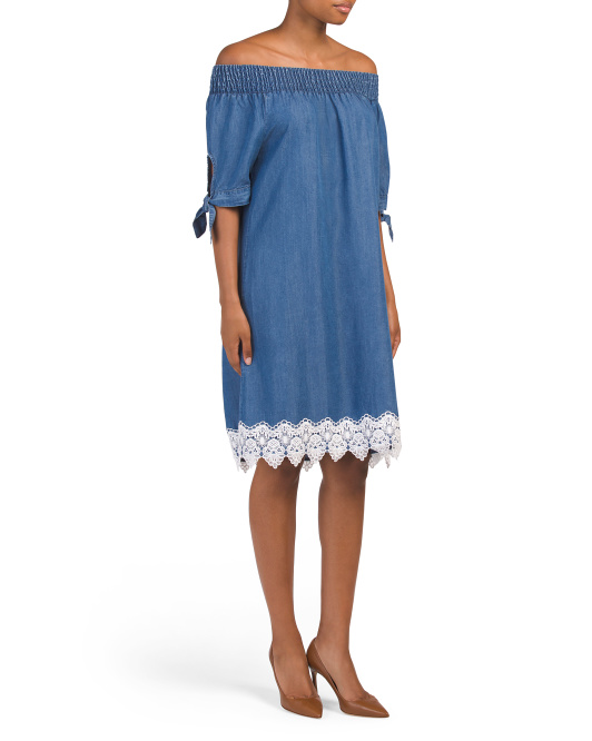 Made In Italy Lace Hem Dress