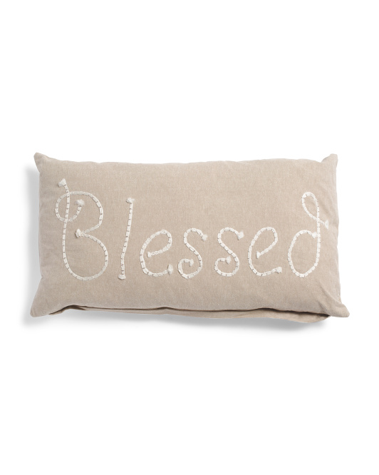 Made In India 14x26 Natural Blessed Pillow