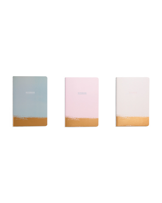 3pk Foil Dipped Notebooks