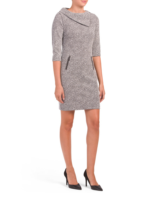 Made In Italy Marilyn Neck Dress