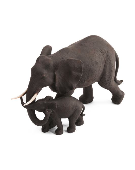 Mom And Baby Elephant Decor