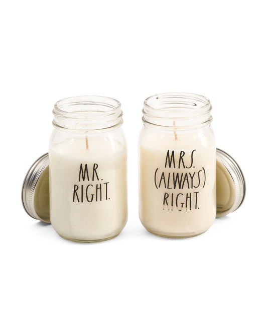 10oz Mr Right & Mrs Always Right Candle Gift Pack