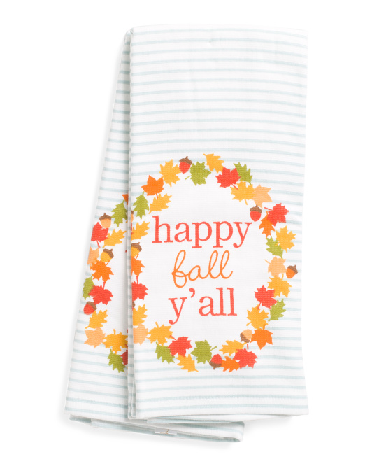 2pk Happy Fall Y'all Kitchen Towels