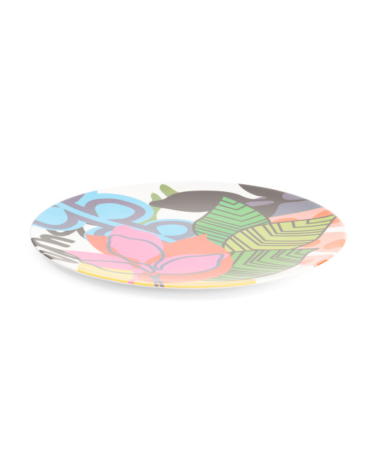 15in Outdoor Oasis Round Meamine Platter