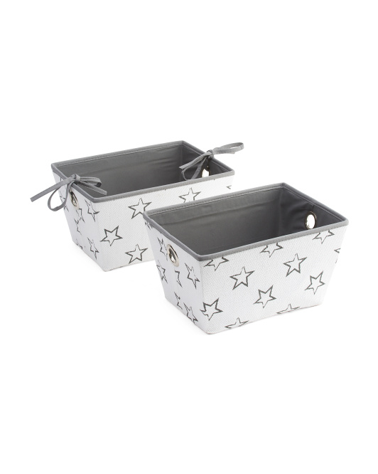 Set Of 2 Shelby Stars Storage Bins