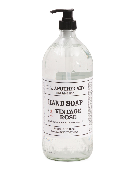 32oz Apothecary Vintage Rose Hand Soap