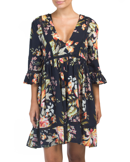Floral Cover-up Tunic