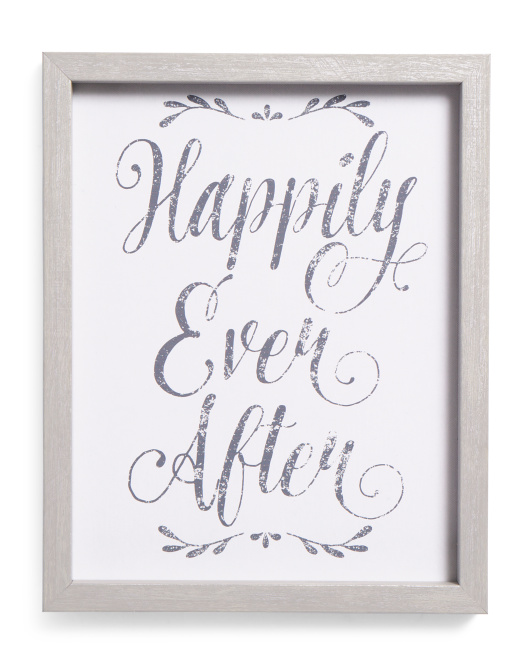 11x14 Happily Ever After Framed Recessed