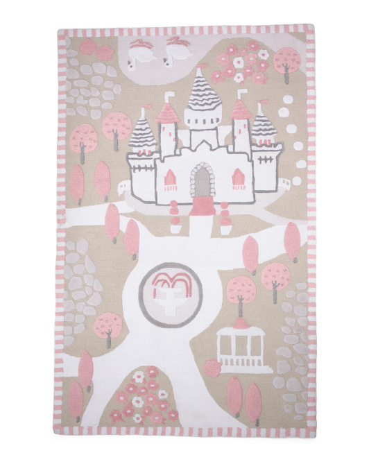 Made In India 5x8 Castle Rug
