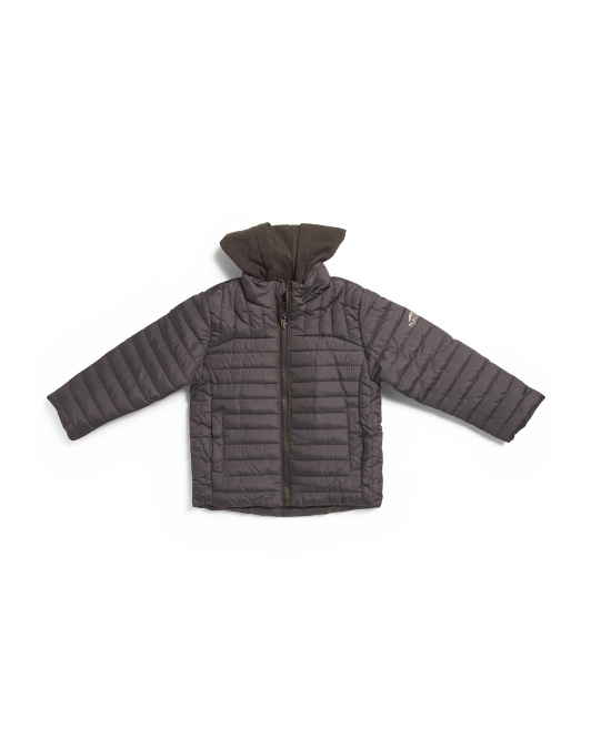 Little Boys Heathered Puffer Jacket