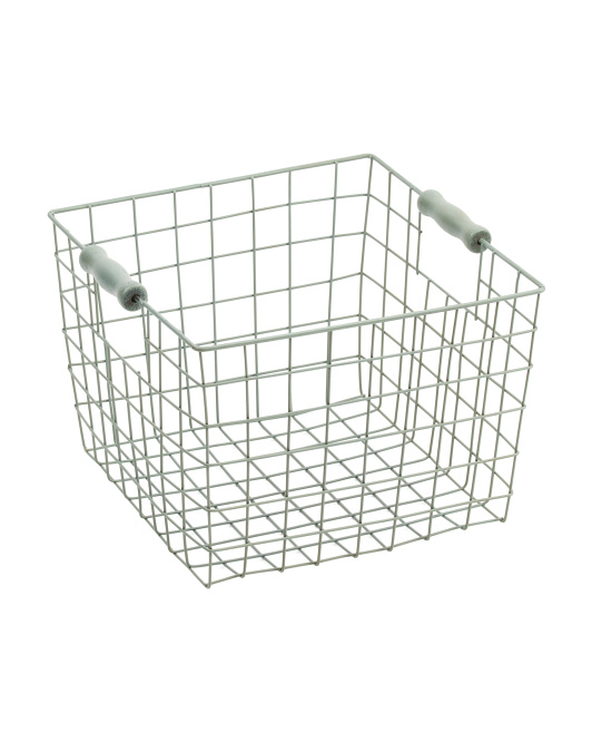 Medium Square Wire Storage Basket