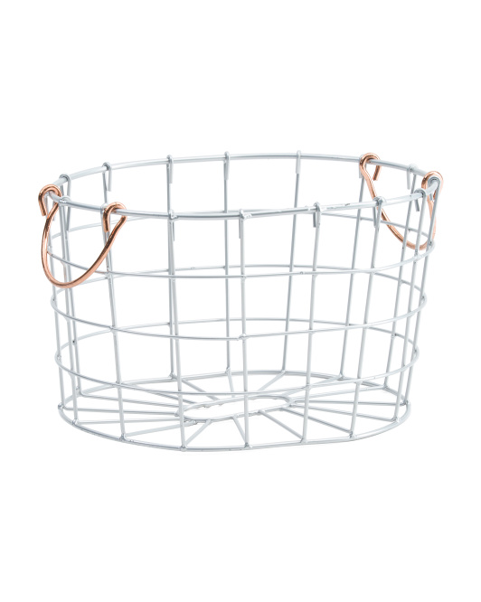Round Wire Metal Storage Bin