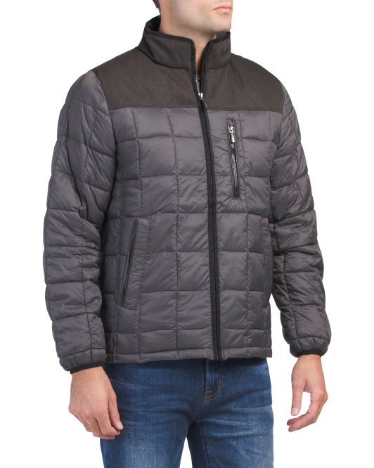 Huntsville Mixed Media Quilted Jacket