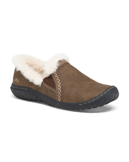 Cozy Lined Slip On Comfort Shoes