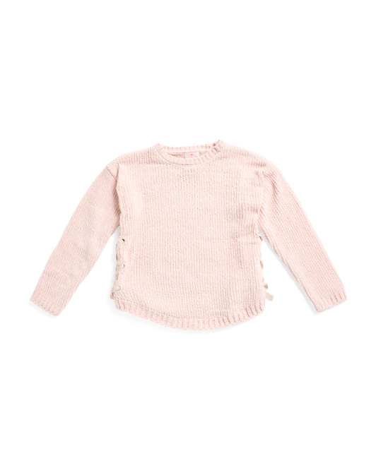 Big Girl Boat Neck Sweater With Side Ties