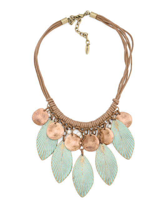 Patina Leaves Necklace
