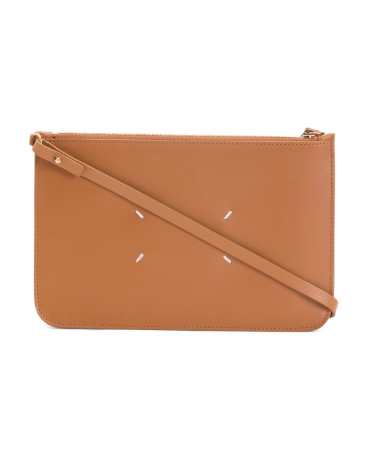 Made In Italy Classic Leather Clutch