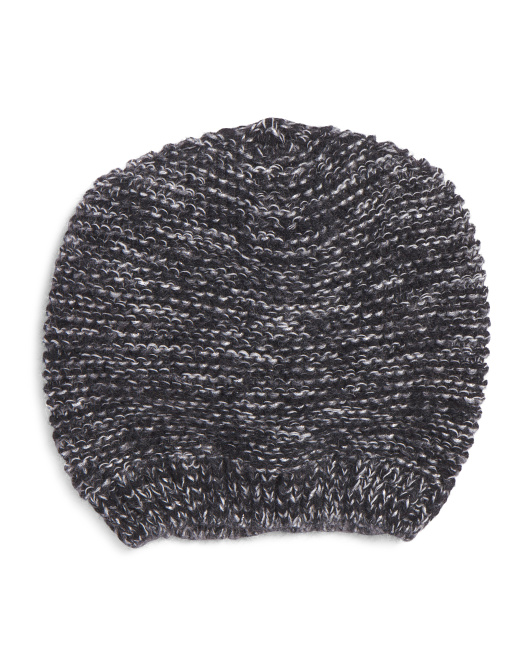Made In Italy Beanie With Metallic Threading
