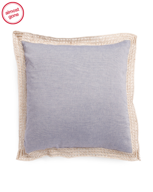 Made In India 20x20 Linen Look Pillow