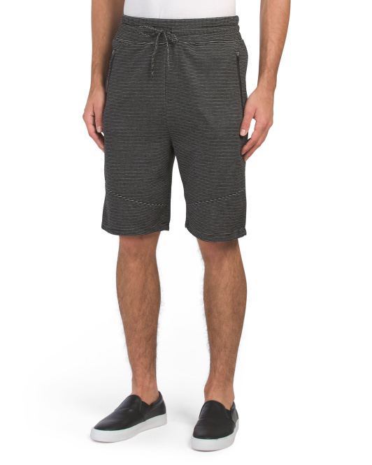 Ottoman Ribbed Pieced Shorts