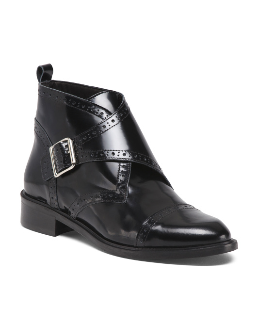 Made In Italy Menswear Leather Booties