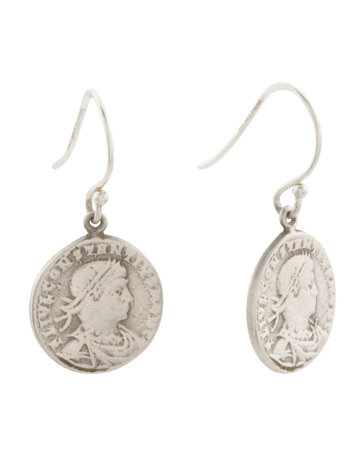 Made In India Sterling Silver Coin Earrings