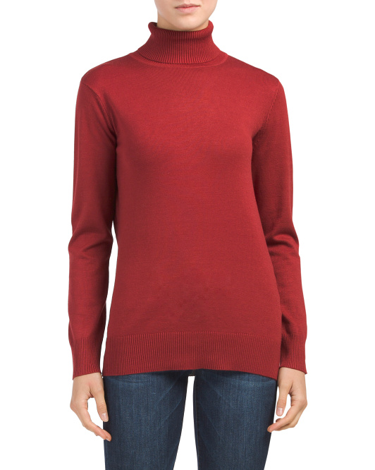 Fine Gauge Turtleneck Sweater