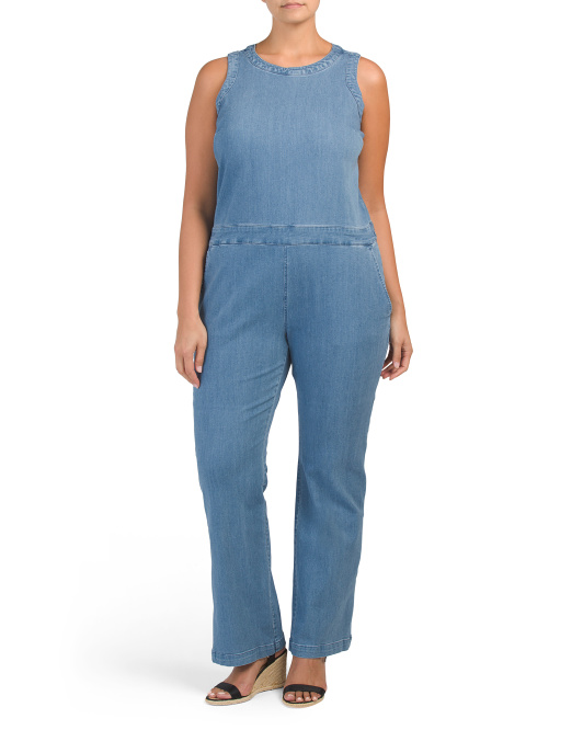 Plus Denim Jumpsuit