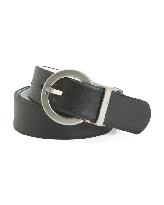 Women's Classic Reversible Leather Belt