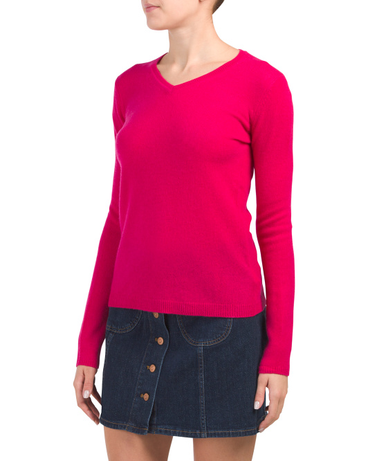 Cashmere Pullover V Neck Sweater