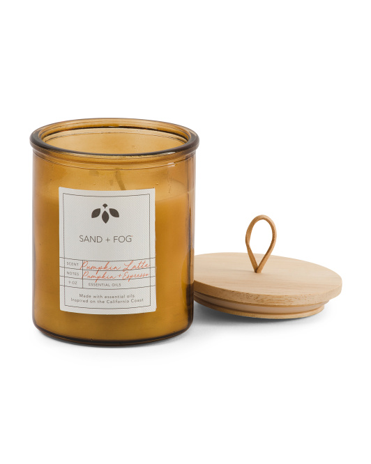 Leather Loop Pumpkin Latte Candle