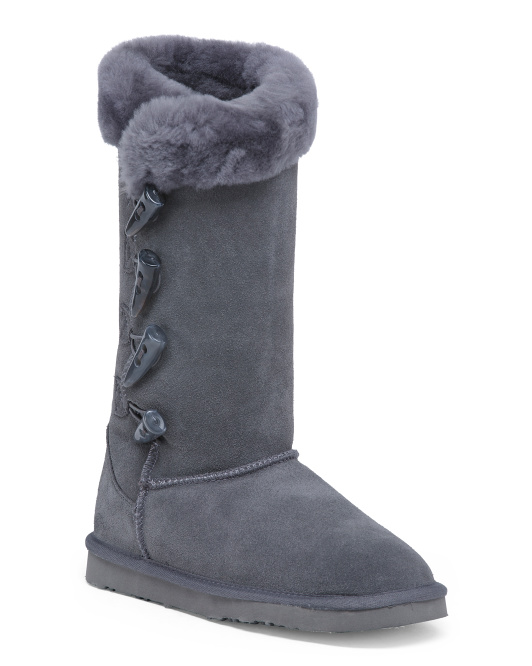 High Shaft Cozy Suede Boots