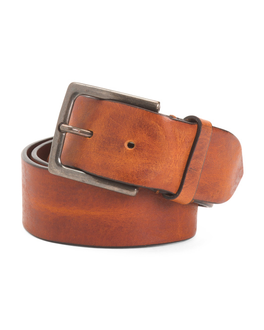 Made In Italy Burnished Leather Belt